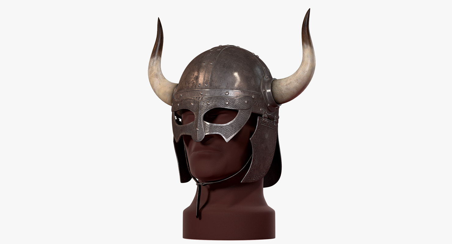 3d viking horned helmet v-ray modelHorned Helmet Viking