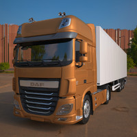 DAF XF Euro 6 with Refrigerated Semi Trailer (2016)