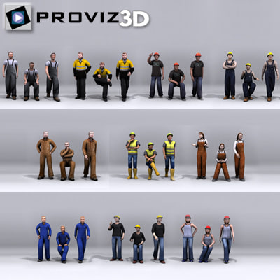 30 people: working people 3d max