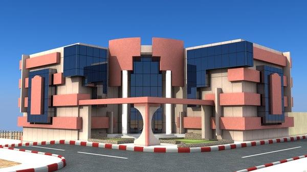 office building vega arch-02- 3d model
