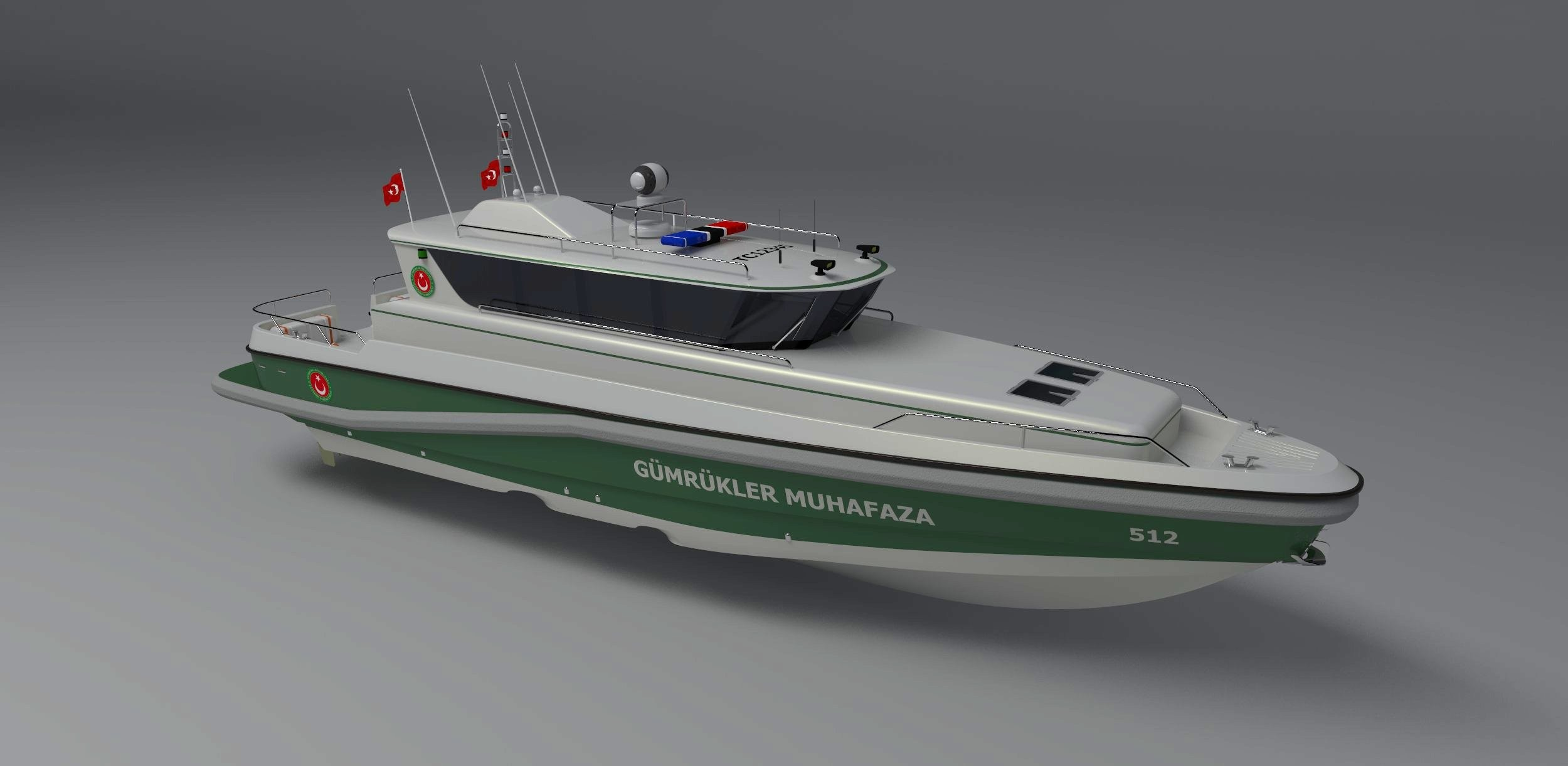 17m turkish maritime customs 3d 3ds