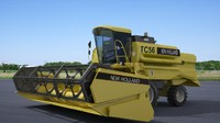 3d model harvester new holland tc56
