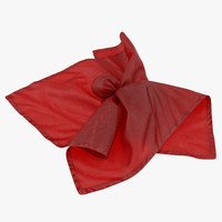 3d model of football penalty flag red