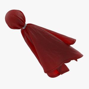 football penalty flag red 3d model