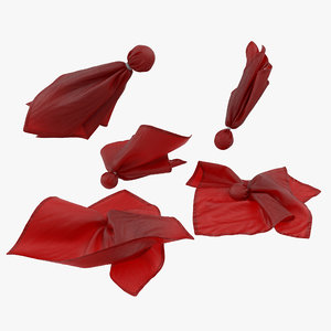 3d model football penalty flags red