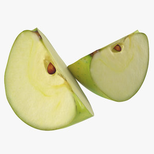 max green apple slice modeled
