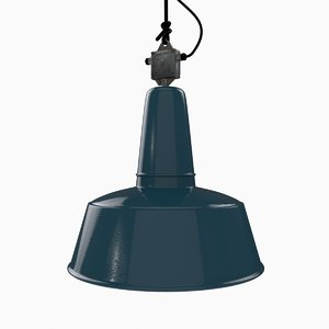 industrial lamp blue ebolicht 3d model