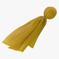 3d model football penalty flag yellow