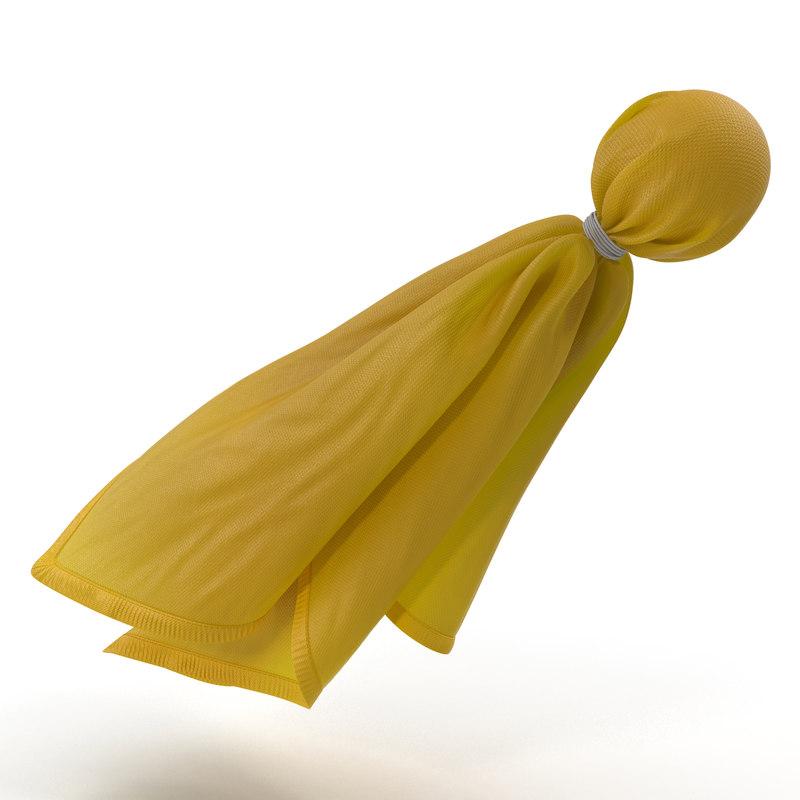 3d model football penalty flag yellow