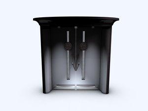 door mackintosh 3d model
