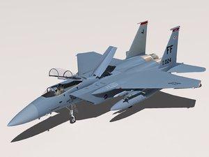 f-15c eagle cockpit f-15 3d model