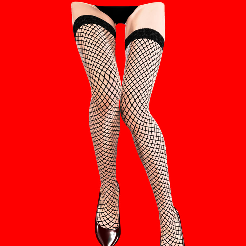 3d model female legs stockings