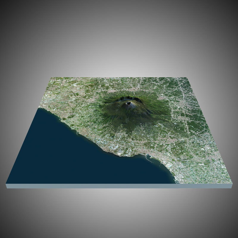 3d model vesuvio volcano