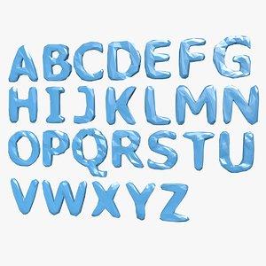 alphabet b 3d dxf