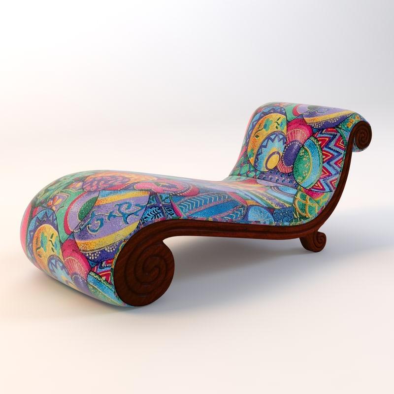 3d classic lounge snail model