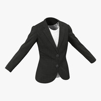women suit jacket 3d 3ds