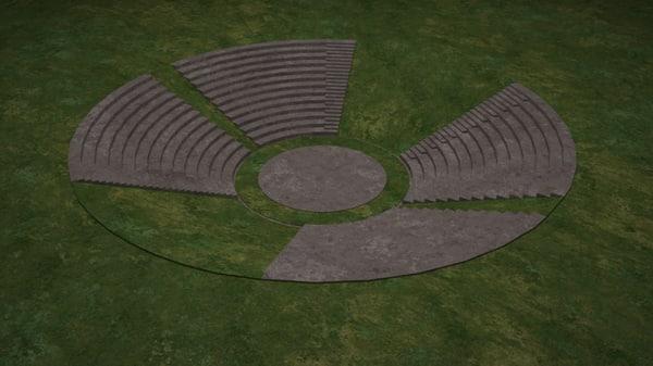 3d model amphitheatre theatre