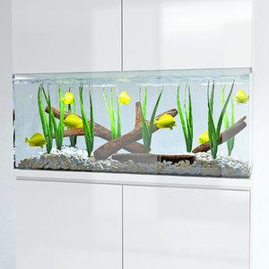 marine aquarium 3d model