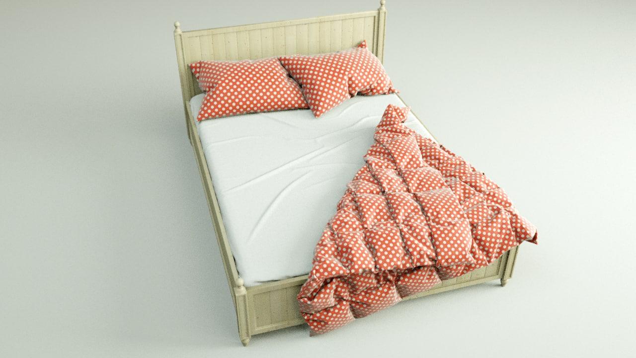 comfy bed 3d c4d
