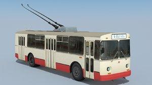 soviet trolleybus ziu-682v 1983 obj
