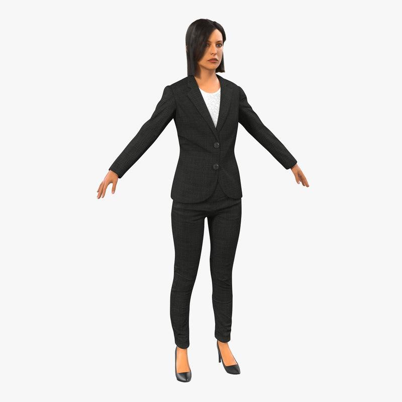 business woman mediterranean 3d model
