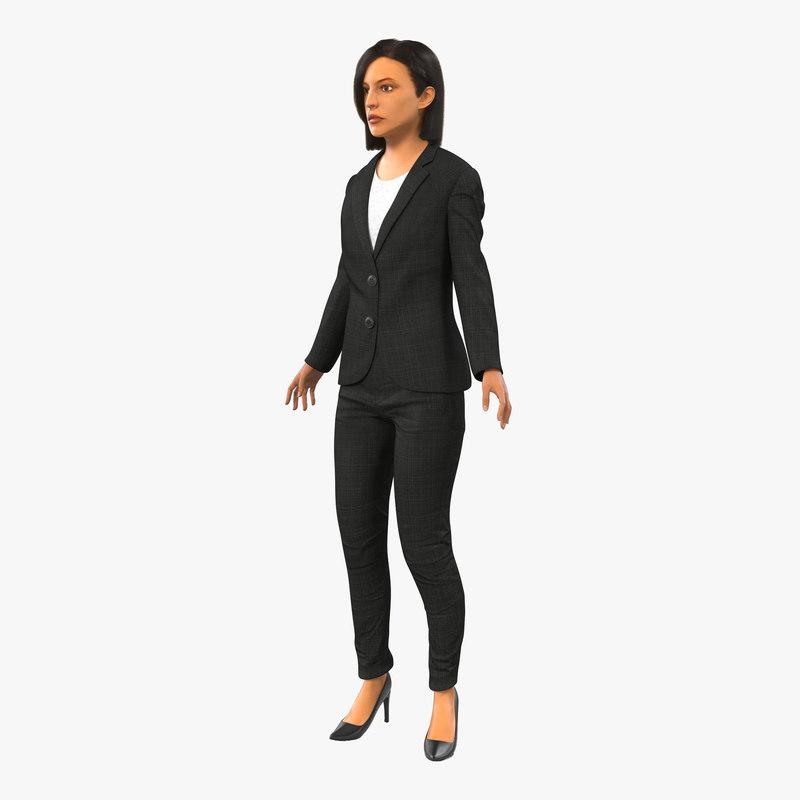 max business woman mediterranean rigged