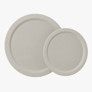 c4d paper plates set modeled