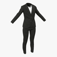 women suit 4 modeled 3d max