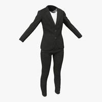3d model women suit 4