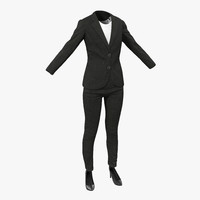 3d max women suit 3