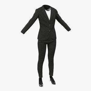 women suit 3 modeled 3d model