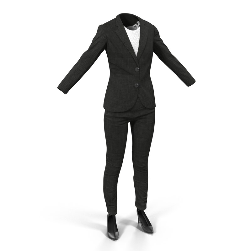 women suit 3 modeled 3d model