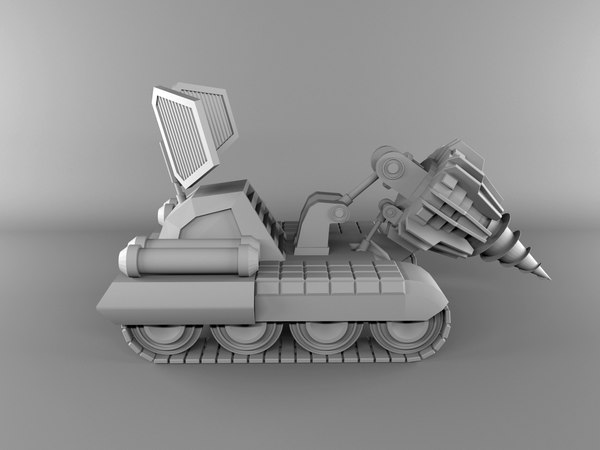Free Low Poly Unmanned Ground Vehicle 3D Models for Download