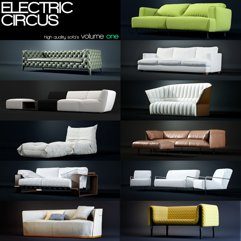3d model of sofa classical modern