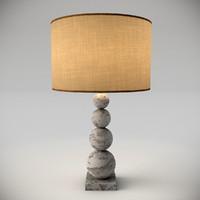 3d stone lamp interior