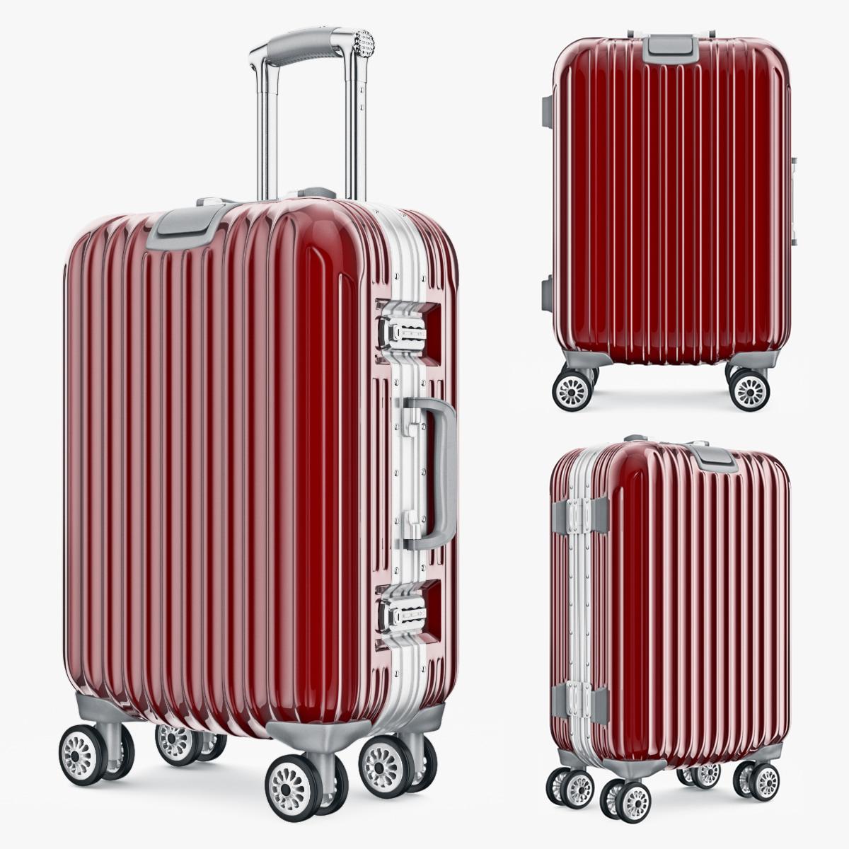 bag luggage travel kingtrip 3d max