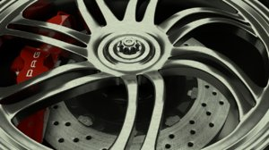 3d 3ds pagani huayra wheel rim