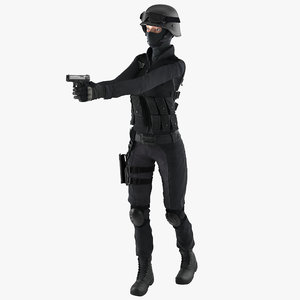 max swat woman european rigged