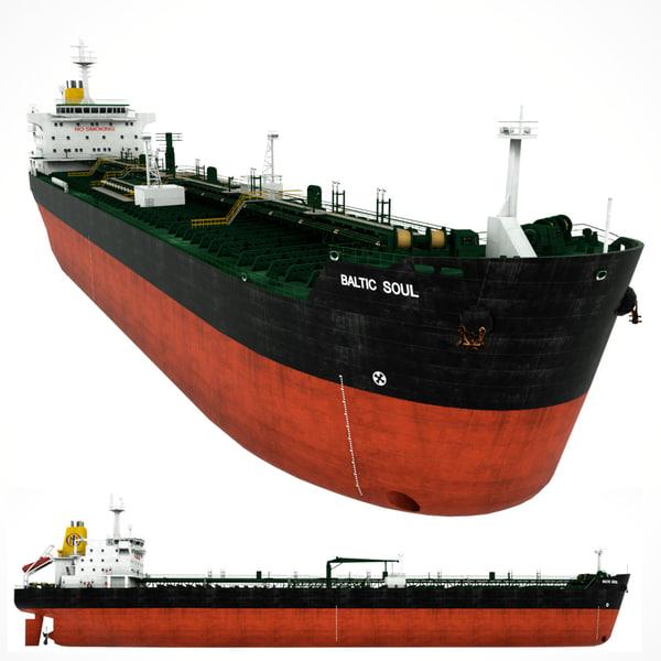 3d model oil tanker baltic soul