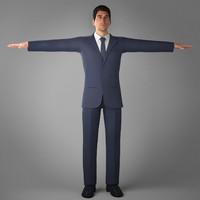 3d suit jean coat model