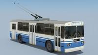 3d soviet trolleybus ziu-682g-016 1998