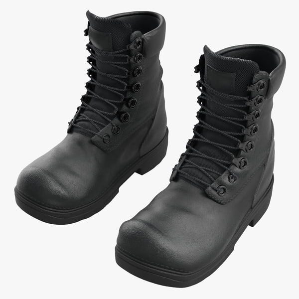 3d model military boots
