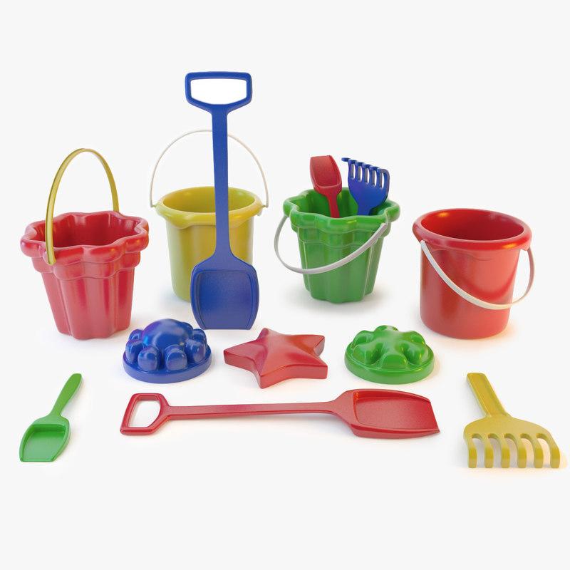 3d sand toys model