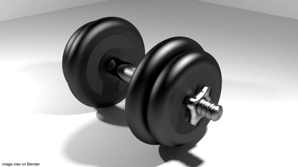 3ds max exercise dumbell equipment