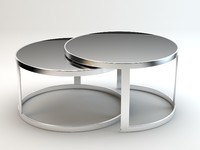 rounded nesting table 3d 3ds