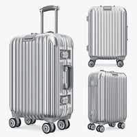 Suitcase Luggage Bag Travel Kingtrip Silver