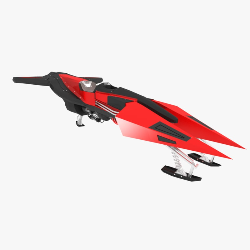 sci-fi aerial vehicle 3d model