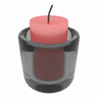 Simple Candle with Glass Holder