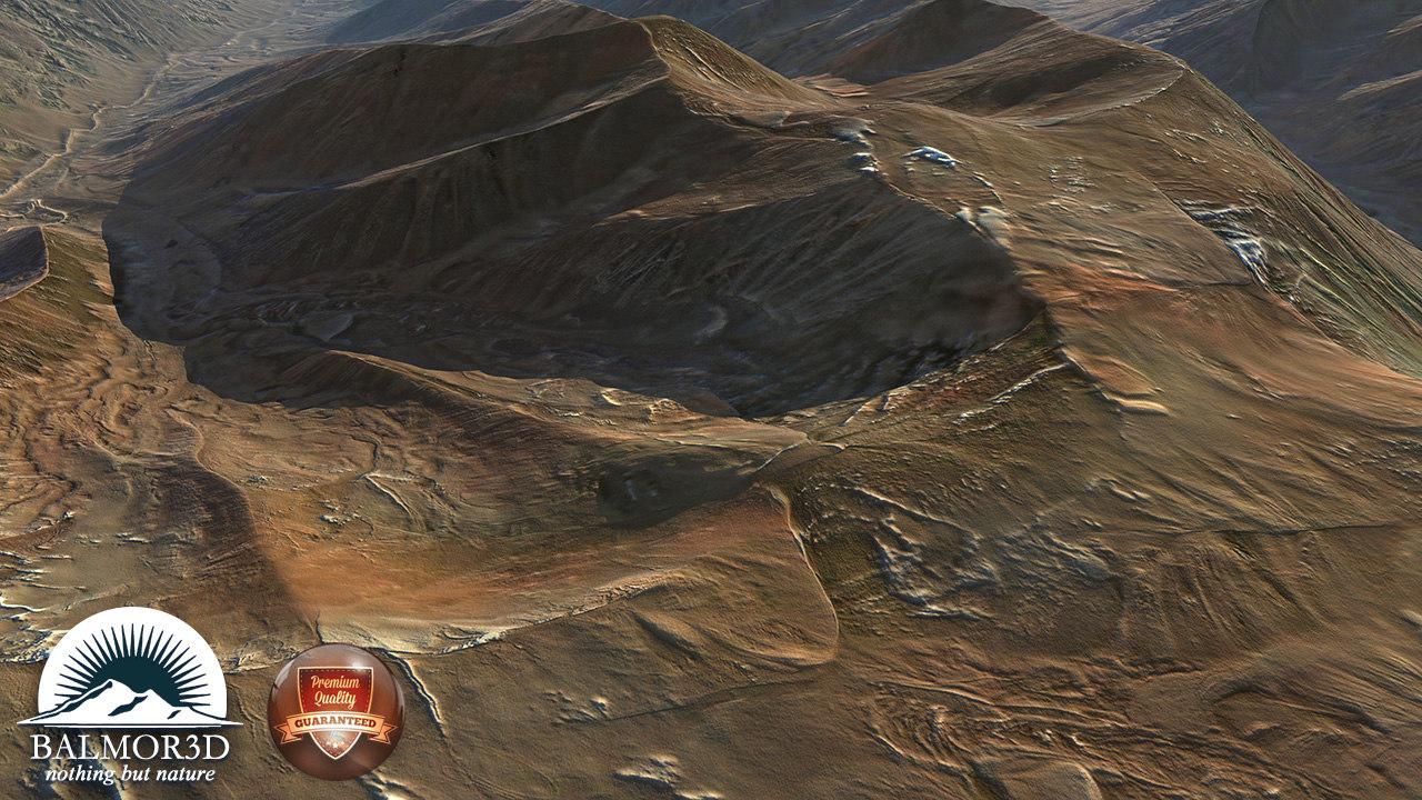 3d mountain model