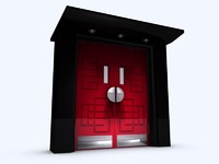 art deco door set 3d model